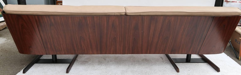 Novo Rumo 1960s Brazilian Jacaranda Sofa For Sale 1