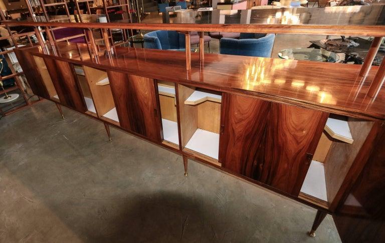 Long Brazilian Jacaranda Bar by Scapinelli For Sale 2