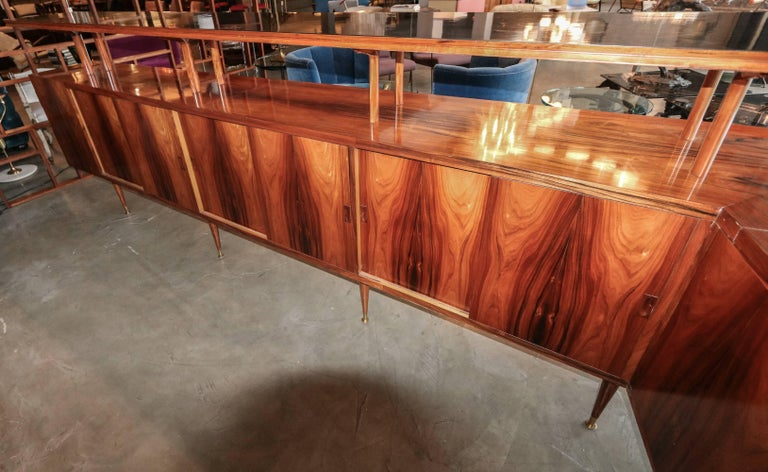 Long Brazilian Jacaranda Bar by Scapinelli For Sale 3