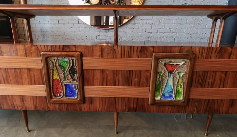 Mid-Century Modern Long Brazilian Jacaranda Bar by Scapinelli For Sale