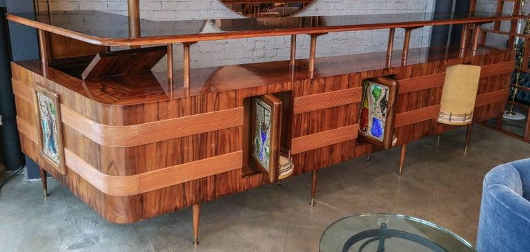 Long Brazilian Jacaranda Bar by Scapinelli For Sale 4