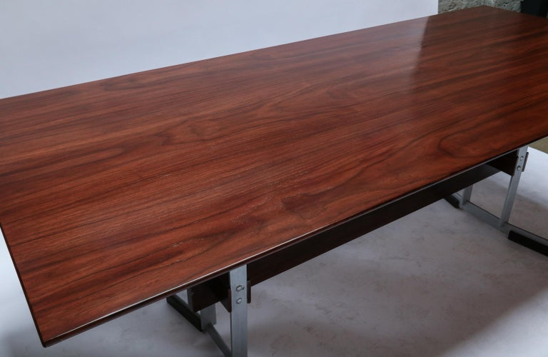 1960s Brazilian Jacaranda Dining Table and Chairs Attributed to Zalszupin For Sale 3