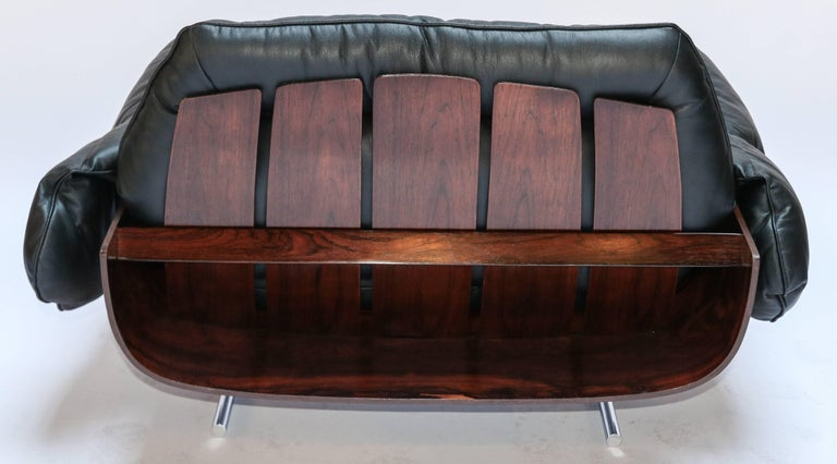 Mid-20th Century Pair of Jorge Zalszupin 1960s Brazilian Jacaranda Presidencial Lounge Chairs For Sale