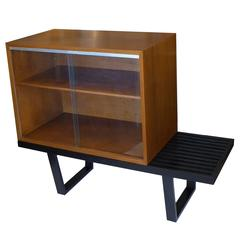 George Nelson Slat Bench W/ Storage Display Unit for Herman Miller