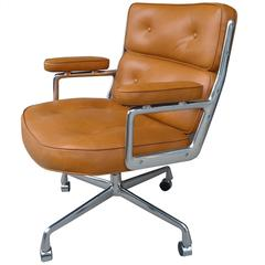 Rare Oversized Time Life Executive Office Chair in Butterscotch Leather