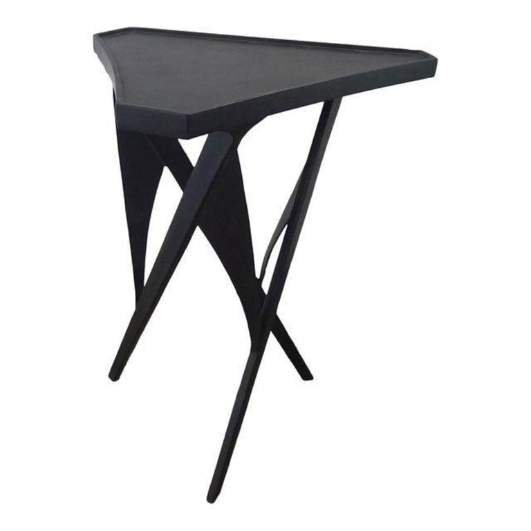 Paul Marra Triangular Steel Side Table 1