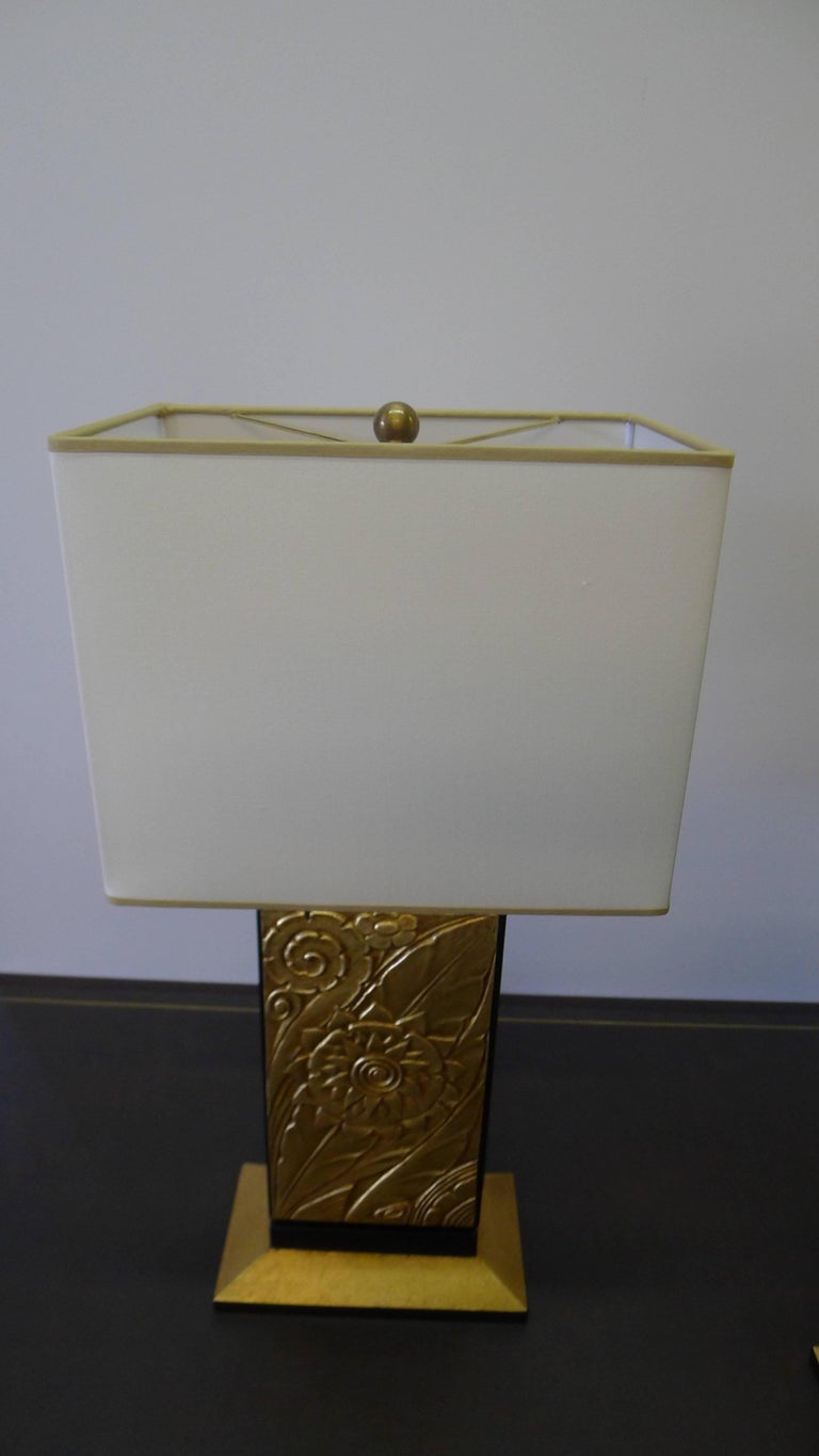 Art Deco Style Modern Table Lamp by Paul Marra In Excellent Condition For Sale In Los Angeles, CA