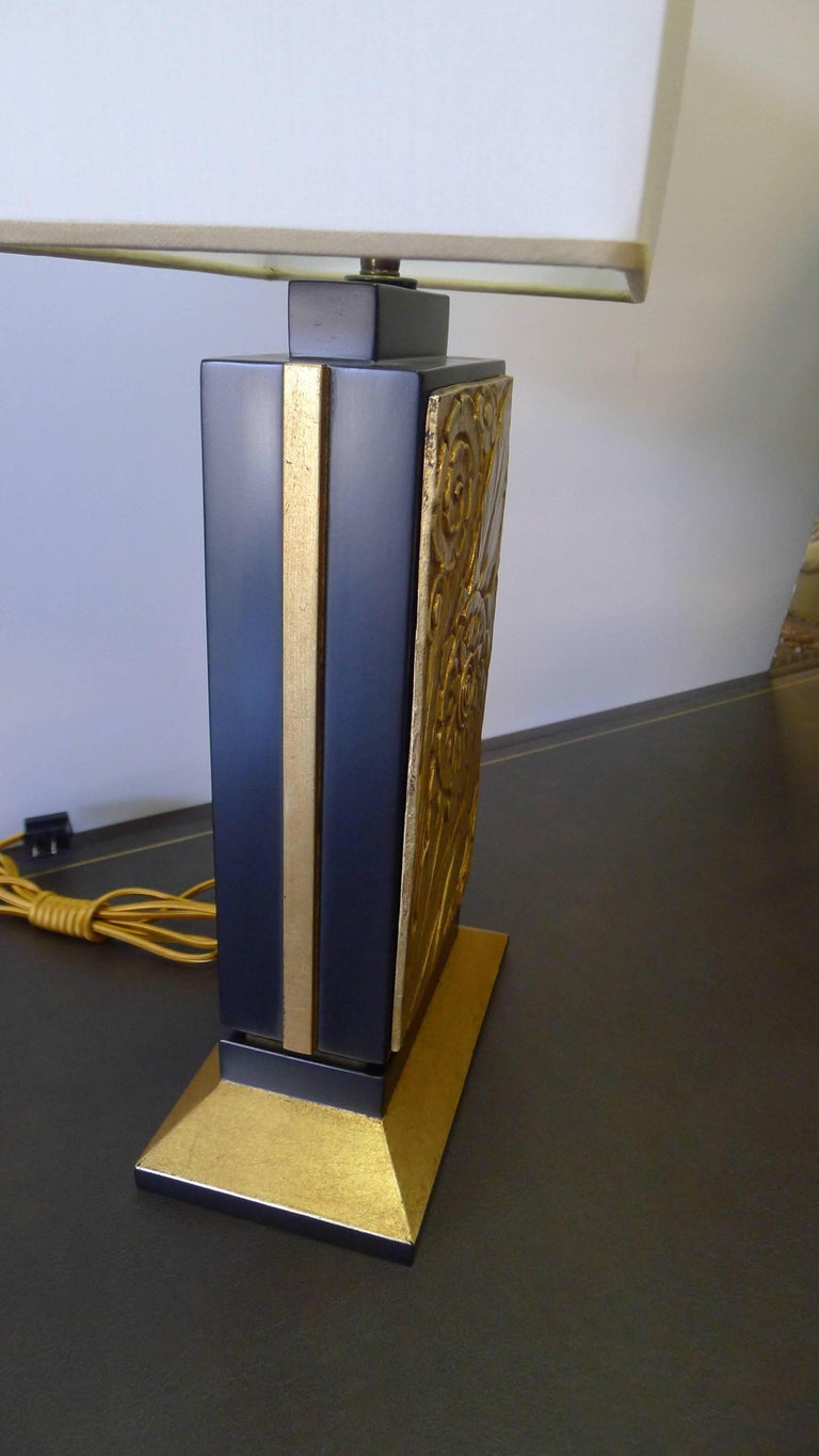 Contemporary Art Deco Style Modern Table Lamp by Paul Marra For Sale