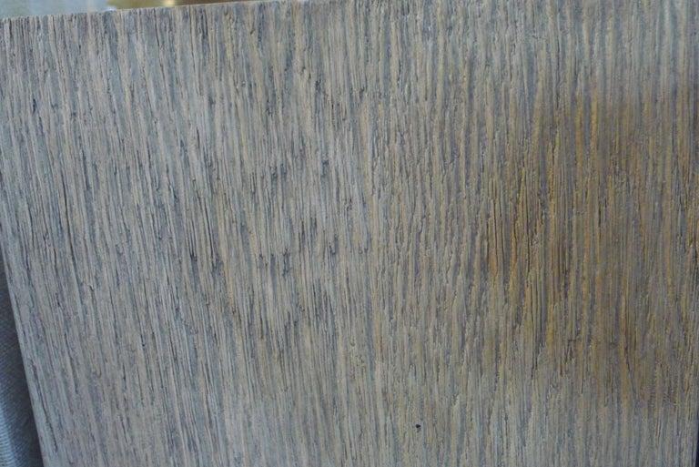 Paul Marra Modern Distressed Oak Lamp For Sale 1