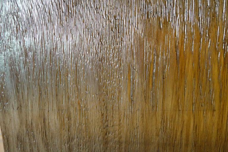 Paul Marra Modern Distressed Silver Oak Lamp For Sale 2