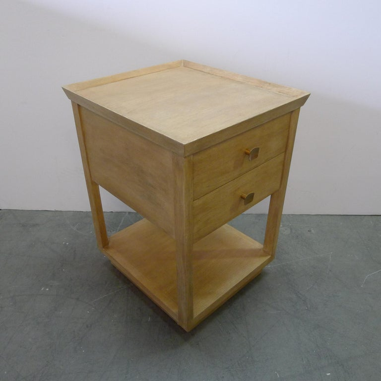 American Paul Marra Two-Tier Nightstand in Rift Sawn Oak Natural Finish For Sale