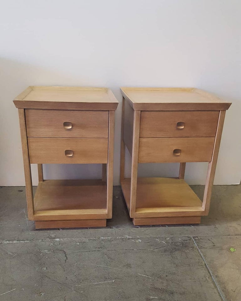 Paul Marra Two-Tier Nightstand in Rift Sawn Oak Natural Finish For Sale 2