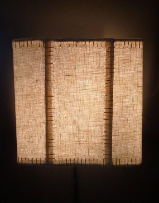 Hand-Stitched Laced Linen Shaded Wall Sconce 6