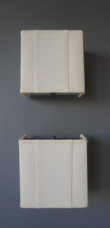 Hand-Stitched Laced Linen Shaded Wall Sconce 3