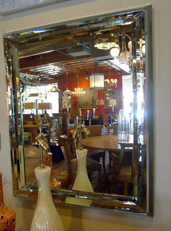 Modern Large All-Glass Wall Mirror For Sale 3