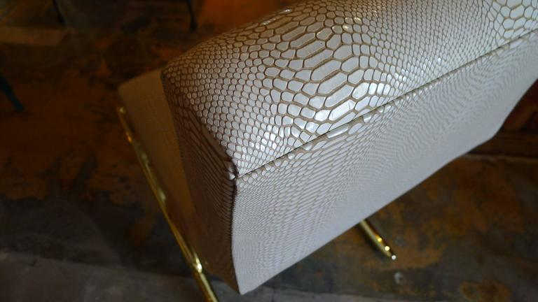 Paul Marra Slipper Chair in Brass with Faux Python 10