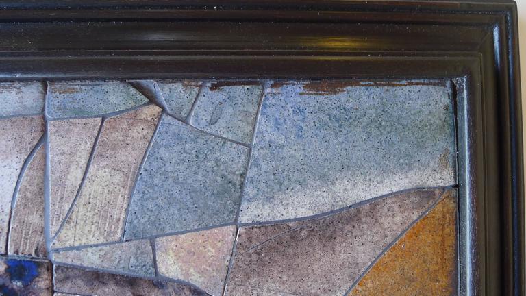 Mid-Century Framed Fish Tile For Sale 1