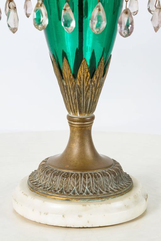 Scandinavian Neoclassical Girandole Pair of 19th Century Swedish Candelabra For Sale