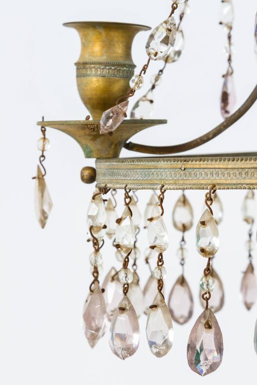 Bronze Neoclassical Girandole Pair of 19th Century Swedish Candelabra For Sale