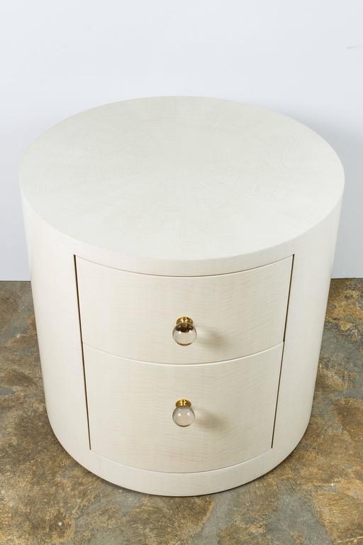 Italian-Inspired 1970s Style Round Nightstand 2