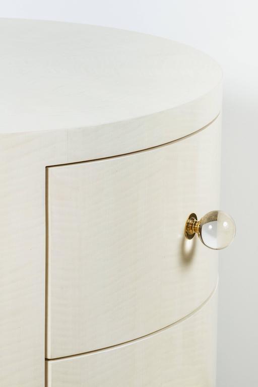 Italian-Inspired 1970s Style Round Nightstand 4