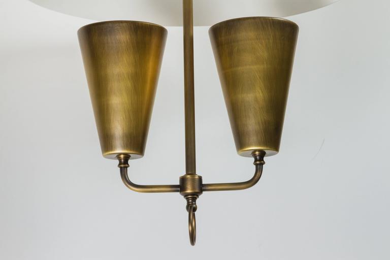 Mid-Century Lightolier Style Brass Pendant 3