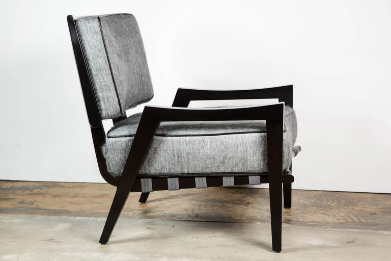 Paul Marra Low Lounge Chair in Black Lacquer 2
