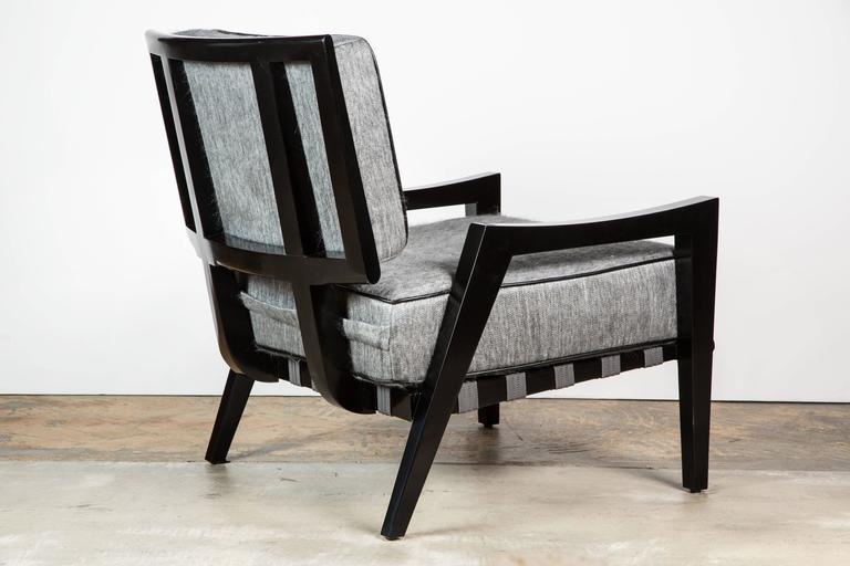 Paul Marra Low Lounge Chair in Black Lacquer 3