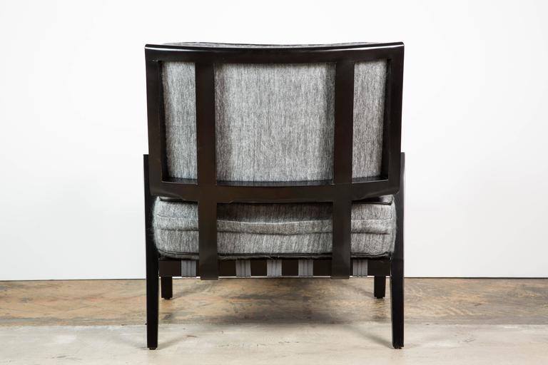 Paul Marra Low Lounge Chair in Black Lacquer 4