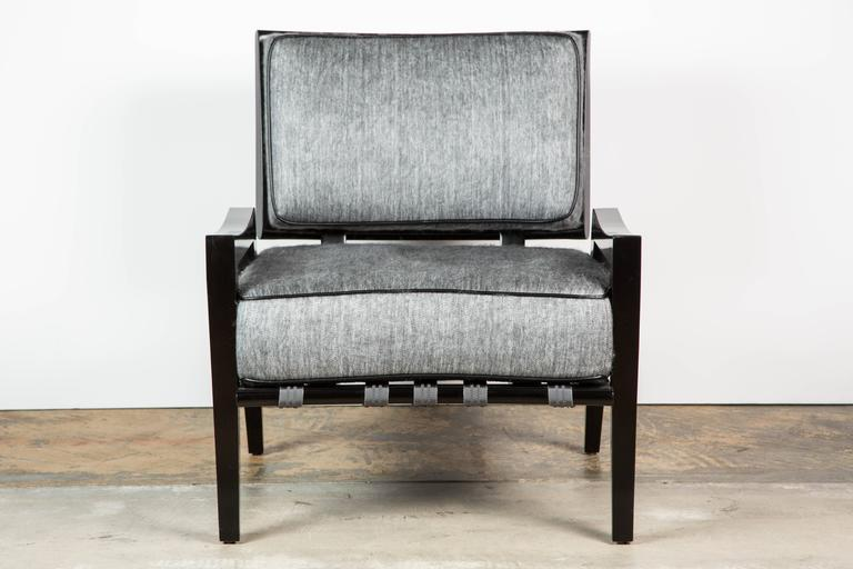 Paul Marra Low Lounge Chair in Black Lacquer 5