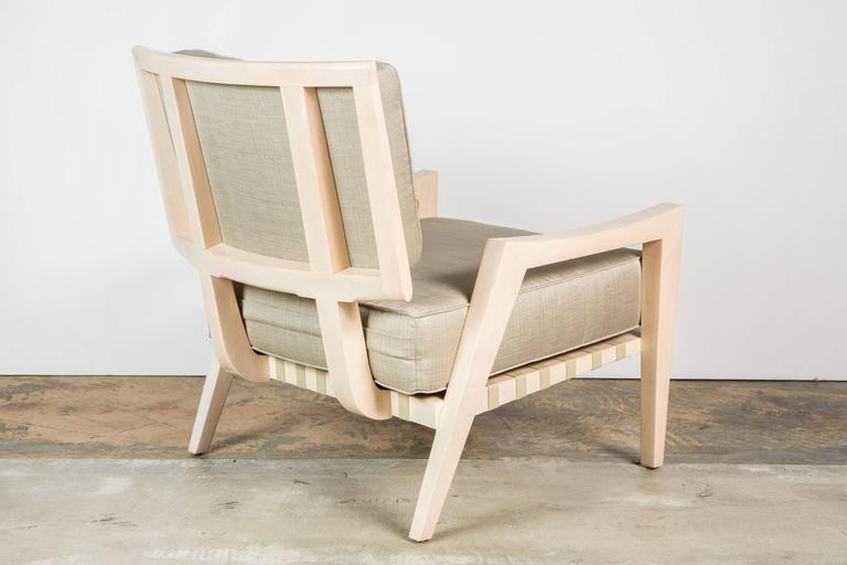 Mid-Century Modern Paul Marra Low Lounge Chair in Bleached Maple For Sale