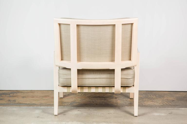 American Paul Marra Low Lounge Chair in Bleached Maple For Sale