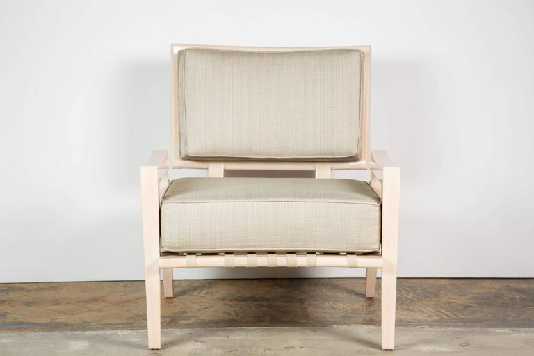 Paul Marra Low Lounge Chair in Bleached Maple In Excellent Condition For Sale In Los Angeles, CA