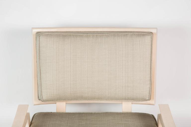 Paul Marra Low Lounge Chair in Bleached Maple 6