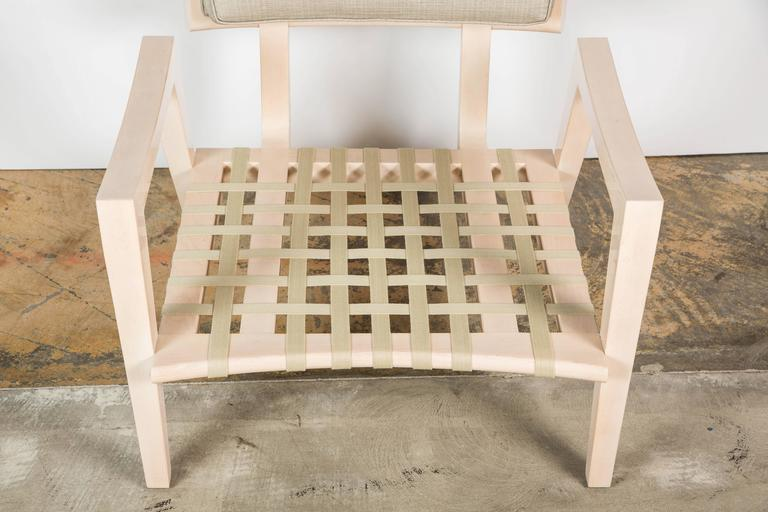 Paul Marra Low Lounge Chair in Bleached Maple For Sale 2