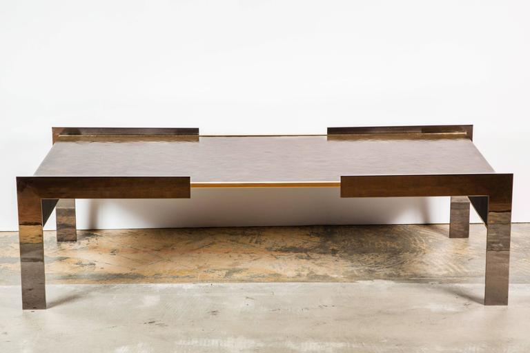 Paul Marra Modern Waterfall Cocktail Table In Excellent Condition For Sale In Los Angeles, CA