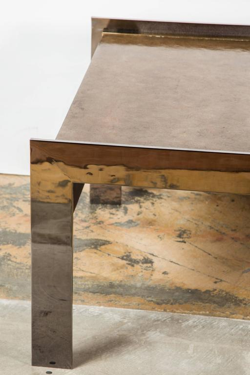 Paul Marra Modern Waterfall Cocktail Table 8