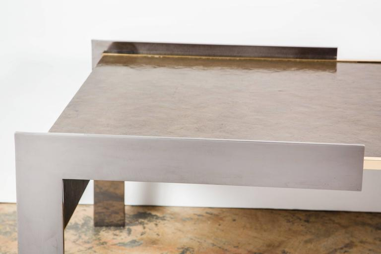 Paul Marra Modern Waterfall Cocktail Table For Sale 2