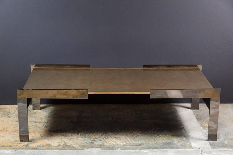Paul Marra Modern Waterfall Cocktail Table For Sale 3