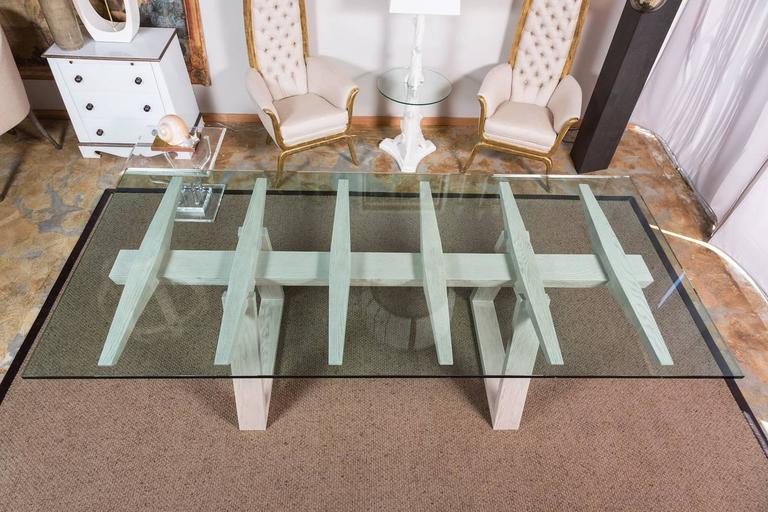 Bleached Paul Marra Vertebrae Dining Table For Sale