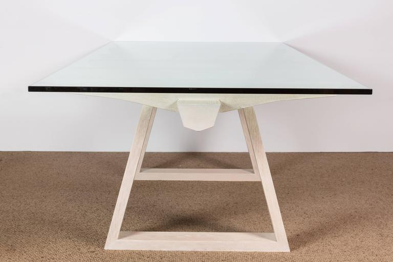 Glass Paul Marra Vertebrae Dining Table For Sale