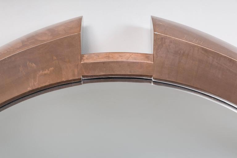 Large Modern Round Arpels Wall Mirror 3