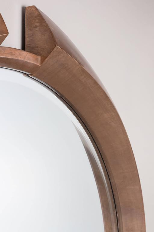 Contemporary Large Modern Round Arpels Wall Mirror For Sale