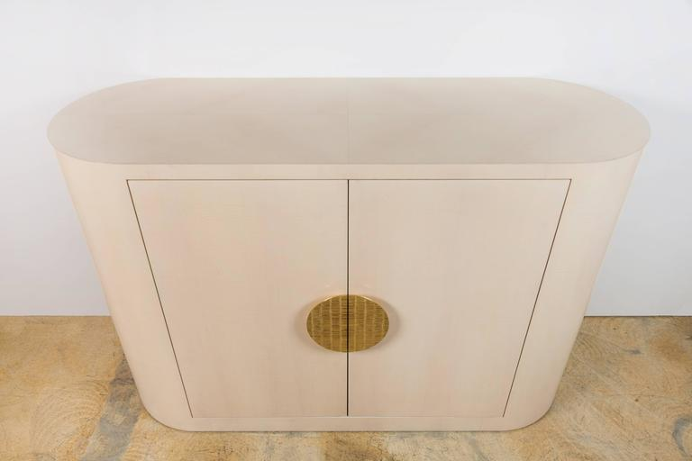 Italian Inspired 1970s Style Rounded Two-Door Cabinet 2