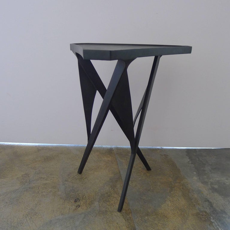 Paul Marra Triangular Steel Side Table 6
