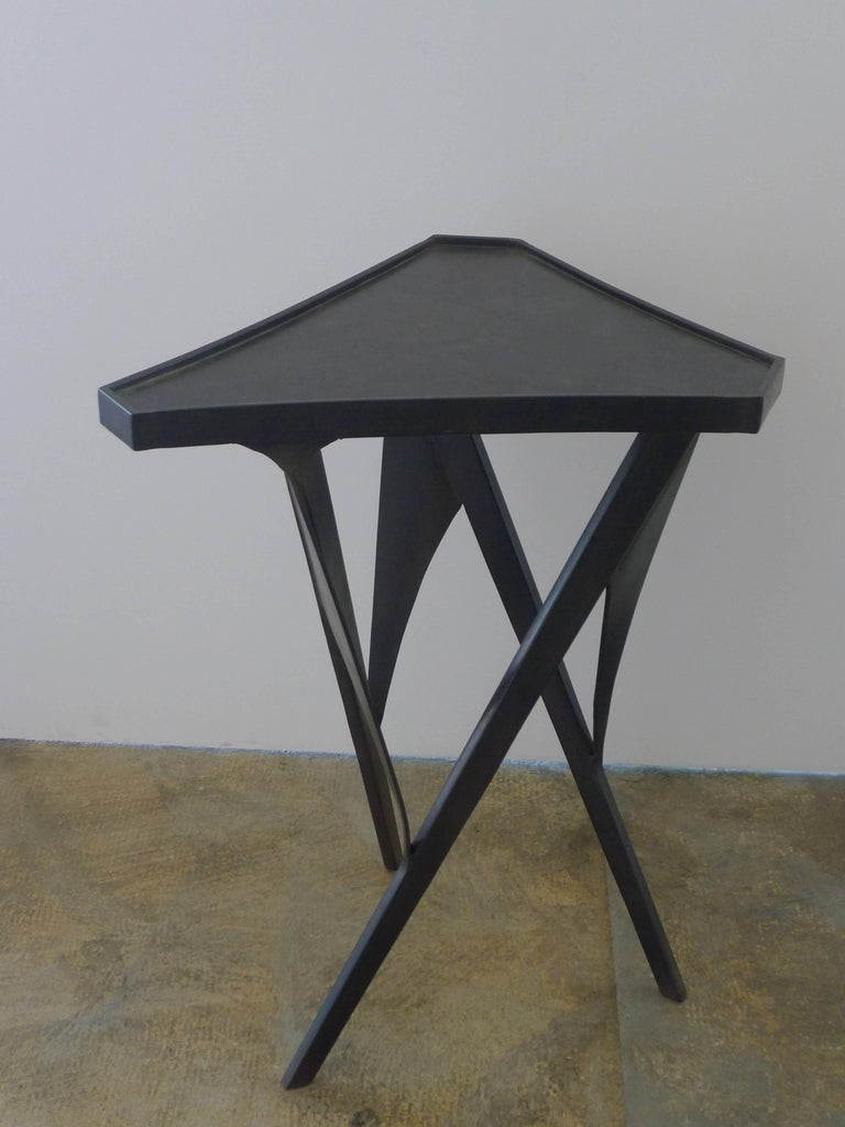 Paul Marra Triangular Steel Side Table 2