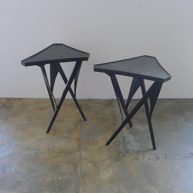 Paul Marra Triangular Steel Side Table 3