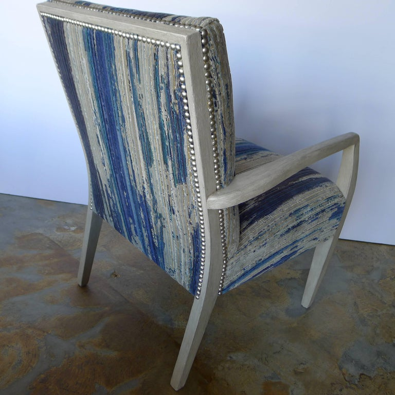 American Mid-Century Lounge Occasional Chair Restored For Sale