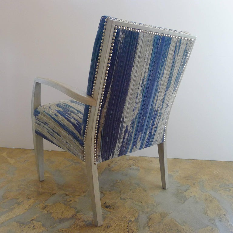 Metal Mid-Century Lounge Occasional Chair Restored For Sale