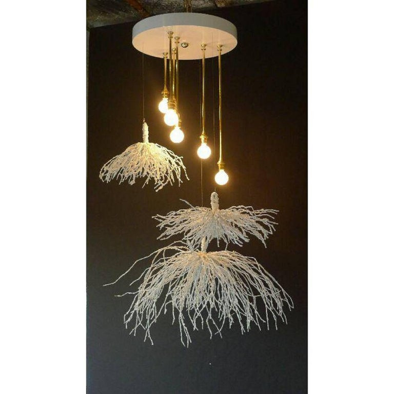 Contemporary Paul Marra Sage Pendant or Chandelier For Sale